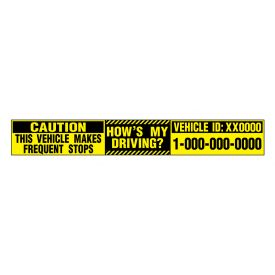 Caution Frequent Stops My Driving decal image