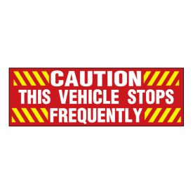 Stops Frequently decal image 2