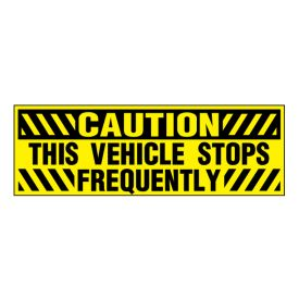 Stops Frequently decal image