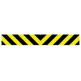 Caution stripe 6x45 decal image