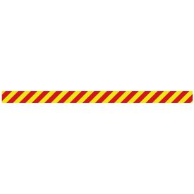 Caution stripe R&Y decal image