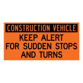 Construction Vehicle Sudden Stops decal image