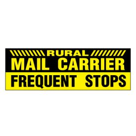 Rural Mail Caution Frequent Stops decal image