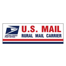 US Rural Mail Caution Frequent Stops decal image