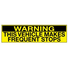 Warning Frequent Stops decal image
