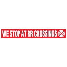 We Stop at RR Crossings decal image
