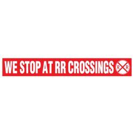 We Stop at RR Crossings decal image