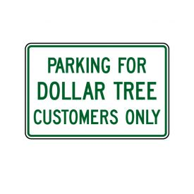 Dollar Tree Parking 12x18 sign image