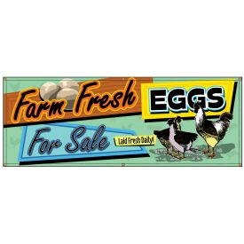 Fresh Eggs For Sale Retro banner image