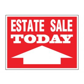 Estate sale today directional sign image