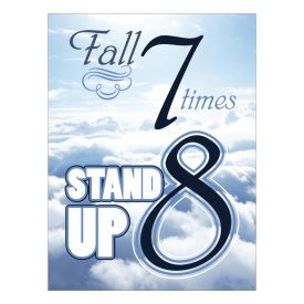 Fall 7 Times Stand Up 8 Canvas print image
