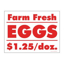Farm Fresh Eggs per dozen sign image