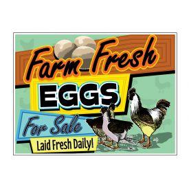 Farm Fresh Eggs Laid Fresh sign image
