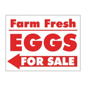 Farm Fresh Eggs Left arrow sign image
