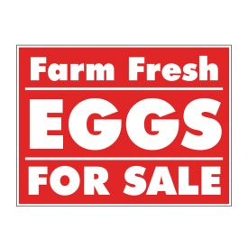 Farm Fresh Eggs Reverse sign image