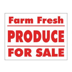 Farm Fresh Produce sign image