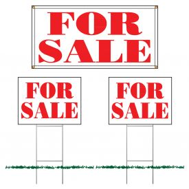 For Sale sign set image