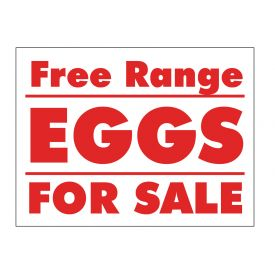 Free Range Eggs sign image