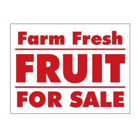 Farm Fresh Fruit sign image
