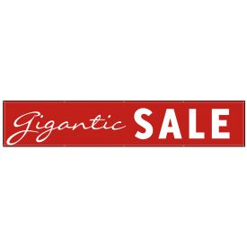 Gigantic Sale 3'x16' banner image