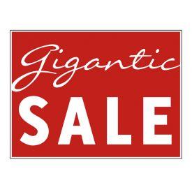 Gigantic Sale yard sign image