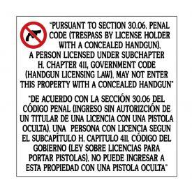Gun Law 30.06 sign image