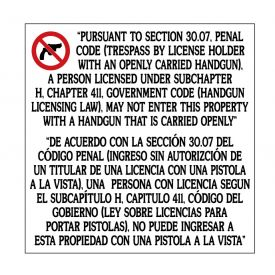 Gun Law 30.07 Decal sign image