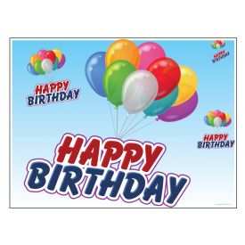 Happy Birthday Balloons sign image