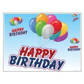 Happy Birthday Balloons sign image