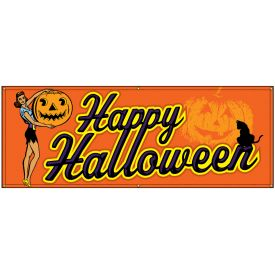 Happy Halloween Retro banner image