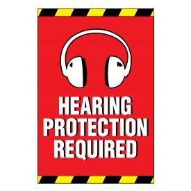 Ear Protection Required sign image
