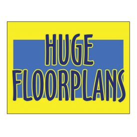 Huge Floorplans sign image