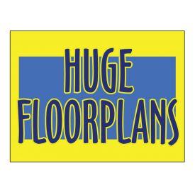 Huge Floorplans sign image
