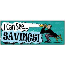 I Can See Savings Retro banner image