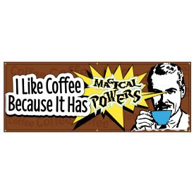 Magical Coffee Powers Retro banner image