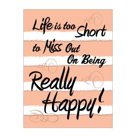 Life is Too Short Poster print image