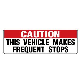 Caution Frequent Stop 2
