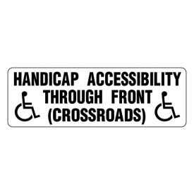 Handicap Accessibility magnetic symbol sign image