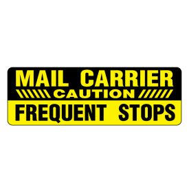 Mail Carrier Caution Frequent Stops magnetic image