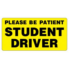 Please Be Patient Student Driver 12x24 magnetic image
