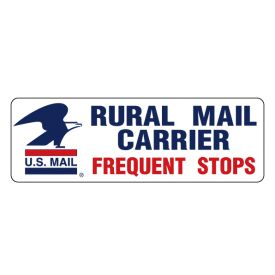 U.S. Mail Frequent Stops magnetic image