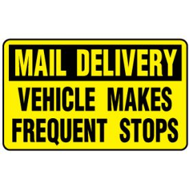 Mail Delivery Vehicle Makes Frequent Stops magnetic image