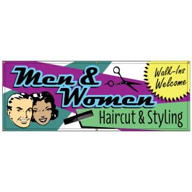 Men and Womens Haircuts Retro banner image