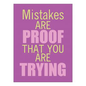 Mistakes are Proof Poster print image