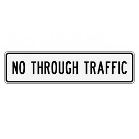 No Through Traffic sign image