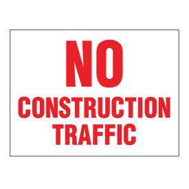No Construction Traffic sign image