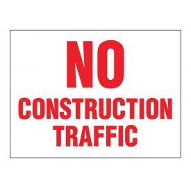 No Construction Traffic sign image