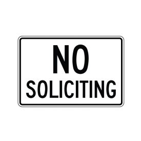 No Soliciting sign image