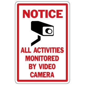 Notice Video Camera sign image