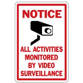Notice Video Surveillance sign image